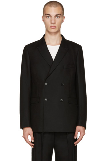 Lemaire - Black Double-Breasted Blazer