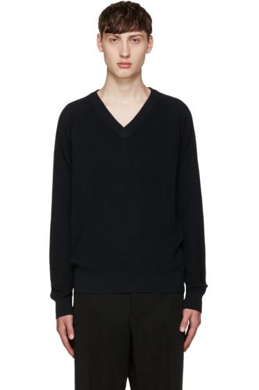 Lemaire - Navy V-Neck Sweater
