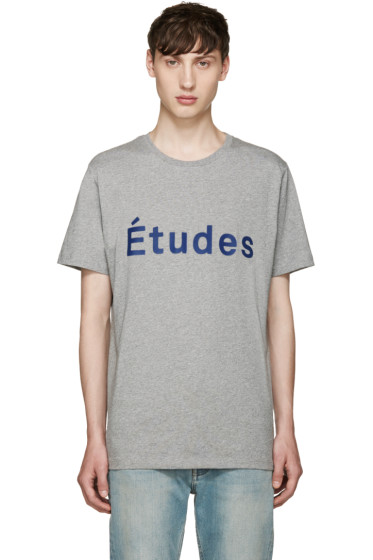 Etudes - Grey Page Logo T-Shirt
