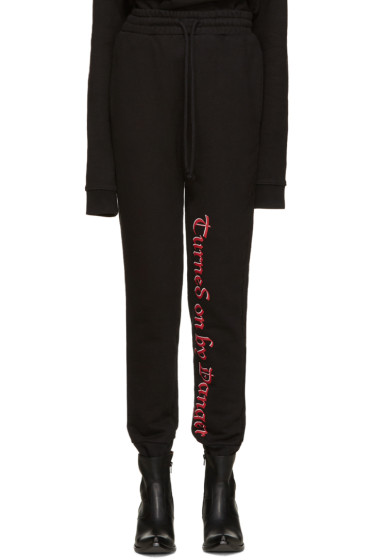 Vetements - Black 'Turned On By Danger' Lounge Pants