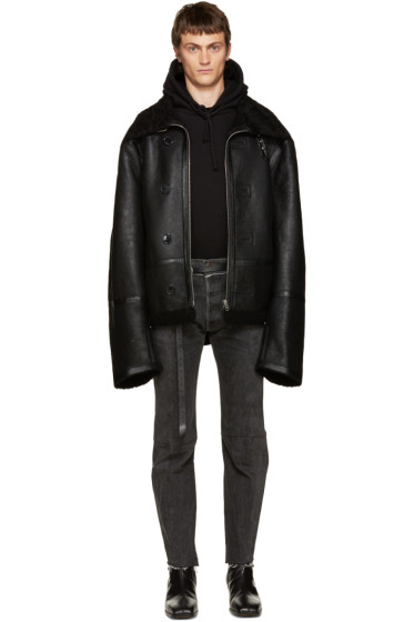 Vetements - Black Shearling Coat