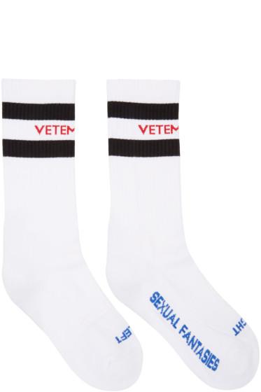 Vetements - White 'Sexual Fantasies' Socks