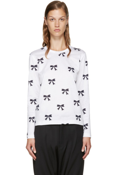 Comme des Garçons Girl - White Bow T-Shirt