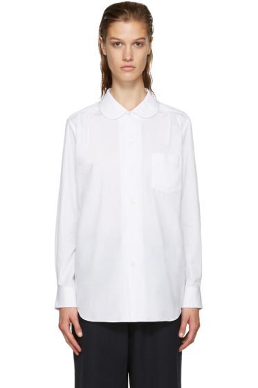 Comme des Garçons Comme des Garçons - White Round Collar Shirt
