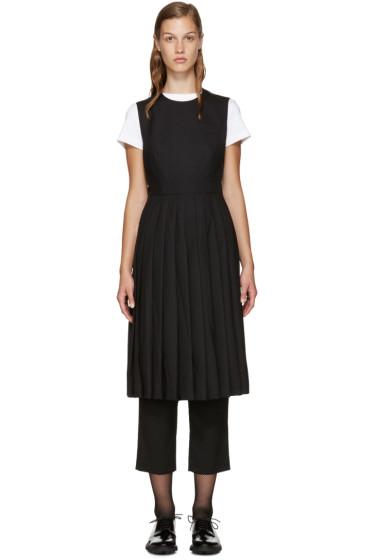Noir Kei Ninomiya - Black Wool Half Blouse Apron