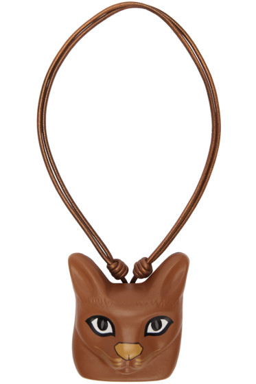 Loewe - Brown Cat Face Necklace