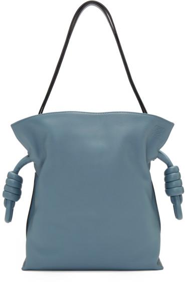 Loewe - Blue Flamenco Knot Bag