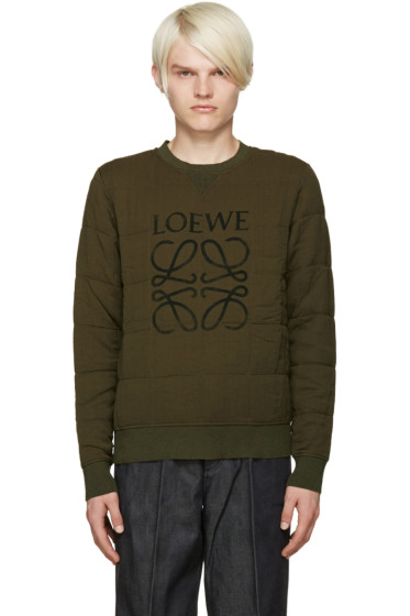 Loewe - Green Quilted Mogram Pullover