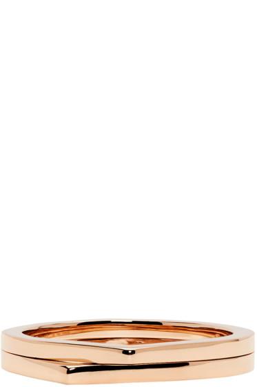 Repossi - Rose Gold 2 Rows Antifer Phalanx Ring