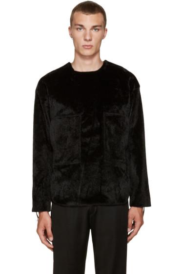 Toga Virilis - Black Faux Calf-Hair Shirt