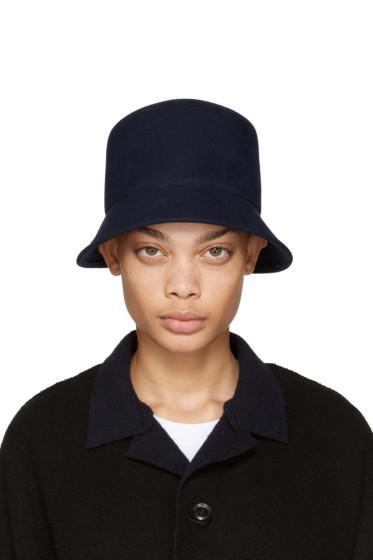 Clyde - Navy Felt Batta Hat
