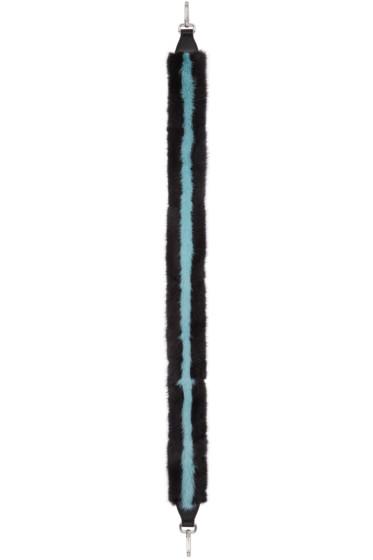 Fendi - Black Mink 'Strap You' Shoulder Strap