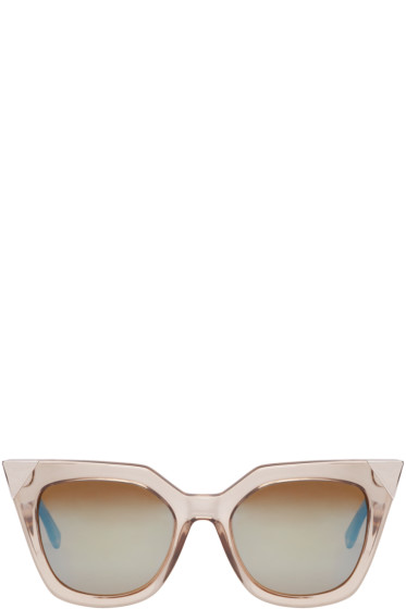 Fendi - Grey Transparent Cat-Eye Sunglasses