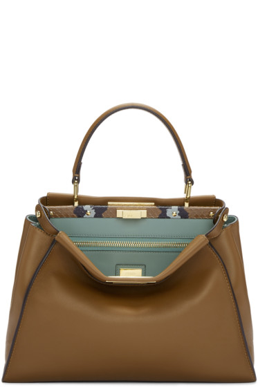 Fendi - Brown Regular Peekaboo Bag