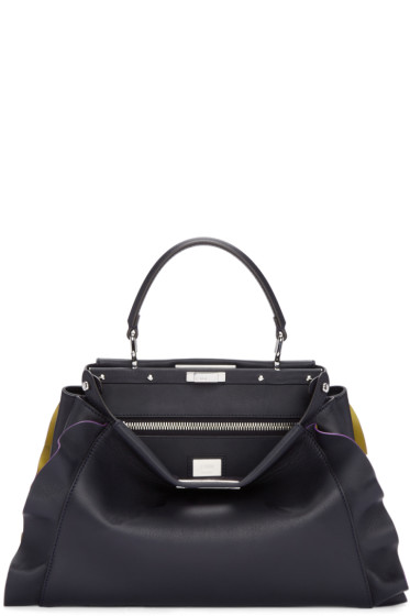 Fendi - Blue & Yellow Medium Peekaboo Bag