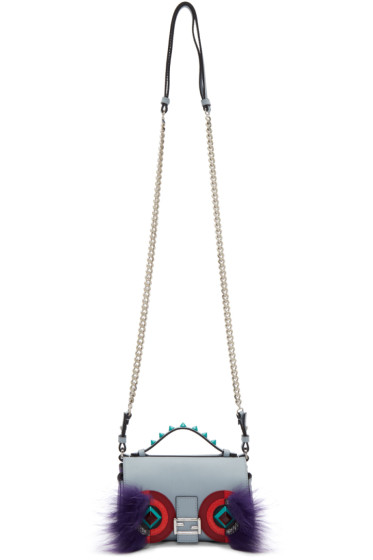 Fendi - Blue Eyes Double Micro Baguette Bag