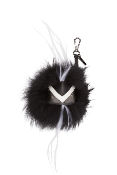 Fendi - Black Bag Bugs Keychain