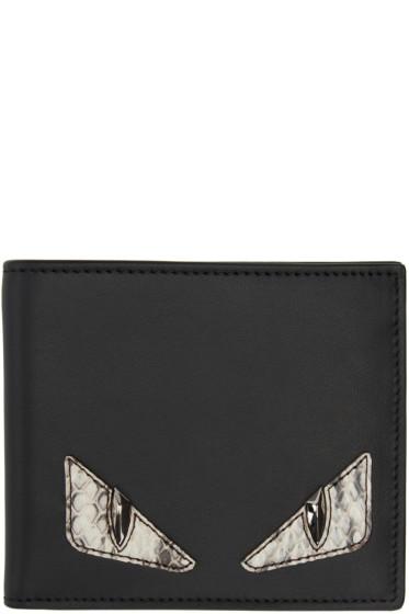 Fendi - Black Snakeskin Monster Eyes Wallet