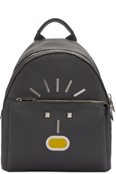 Fendi - Grey New Monster Backpack