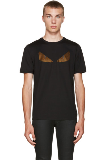 Fendi - Black Crystal Monster Eyes T-Shirt
