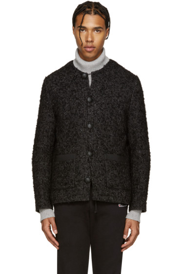 Palm Angels - Black Mohair Coco Jacket