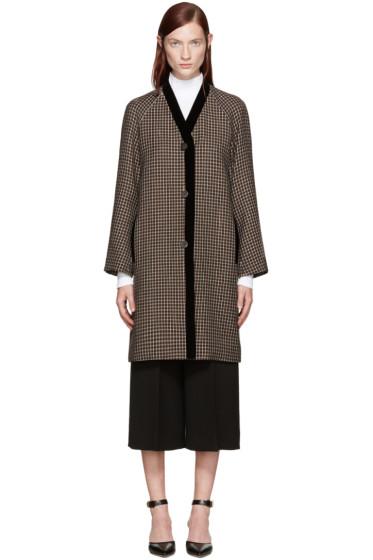 Rosetta Getty - Brown Check Top Coat