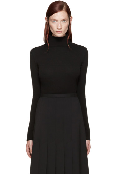 Rosetta Getty - Black Mock Neck T-Shirt