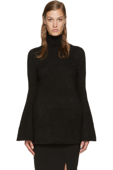 Rosetta Getty - Black Bell Sleeve Turtleneck