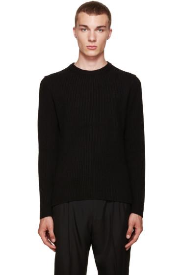 Wooyoungmi - Black Zip Sleeve Sweater