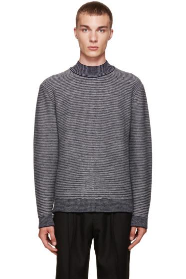 Wooyoungmi - Grey Mock Neck Sweater