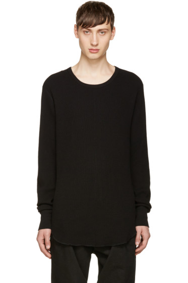Attachment - Black Waffle Knit T-shirt