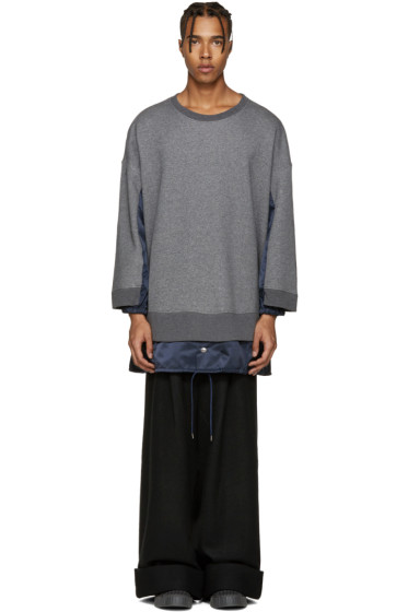 Kidill - Grey Panelled Combo Pullover