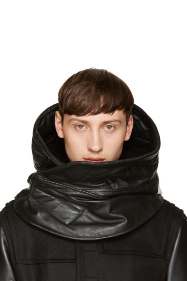 NILøS - Black Sheepskin Hooded Stole
