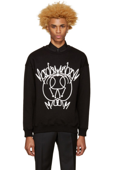 Moschino - Black Graffiti Logo Pullover