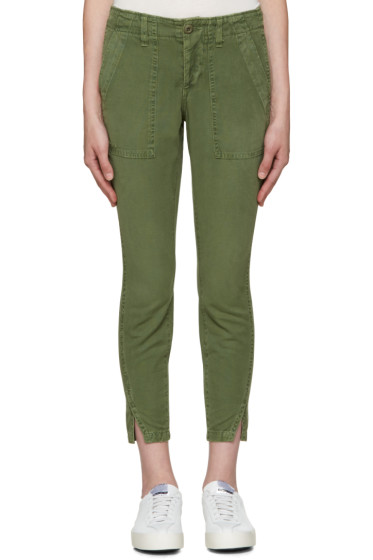 Amo - Green Army Twist Trousers