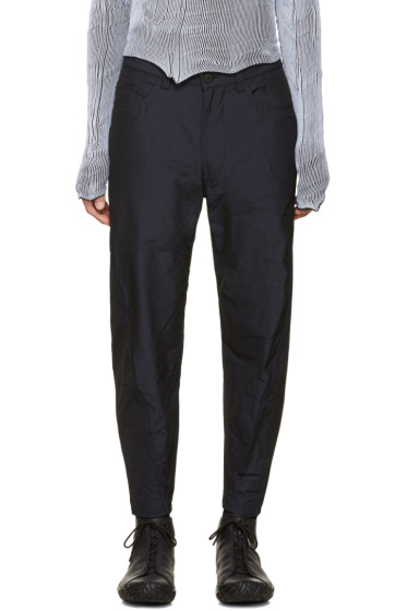 Issey Miyake Men - Navy Twisted Trousers
