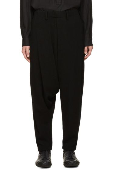 Issey Miyake Men - Black Bouclé Sarouel Trousers