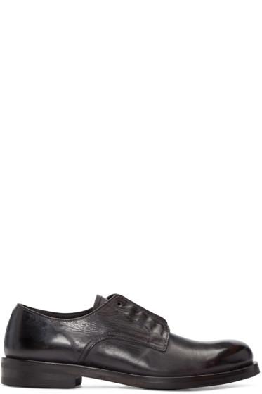 Issey Miyake Men - Black Leather Derbys