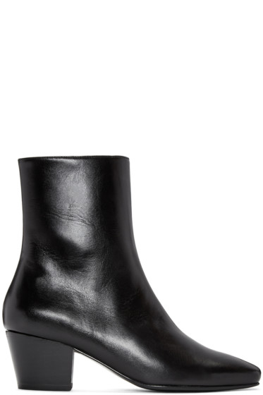 Dorateymur - Black Droop Nose Boots