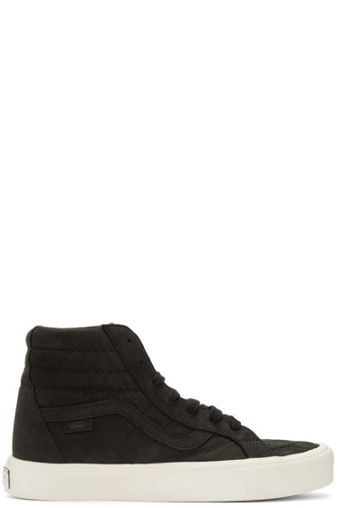 Vans - Black Nubuck Sk8-Hi Reissue Lite LX Sneakers