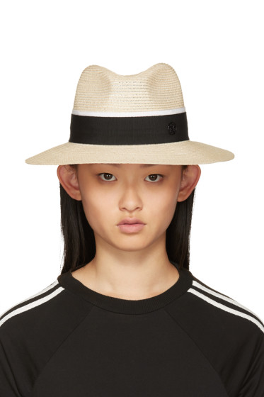 Maison Michel - Beige Henrietta Hat