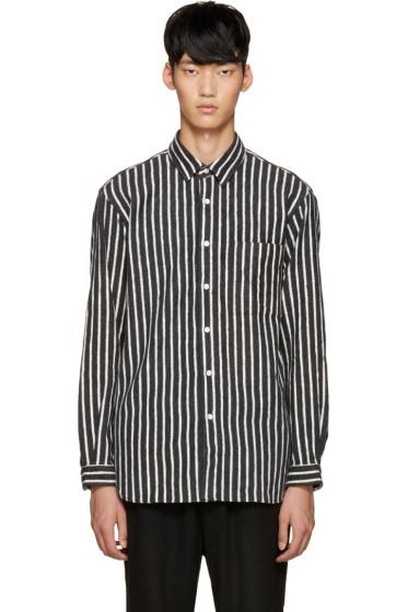 Tomorrowland - Grey Flannel Striped Shirt