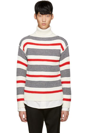Tomorrowland - Tricolor Wool Striped Turtleneck