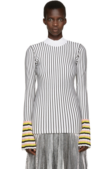 Emilio Pucci - Black & White Striped Top