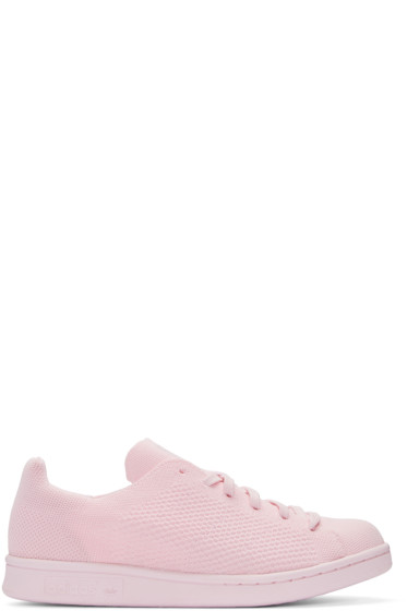 adidas Originals - Pink Primeknit Stan Smith Sneakers