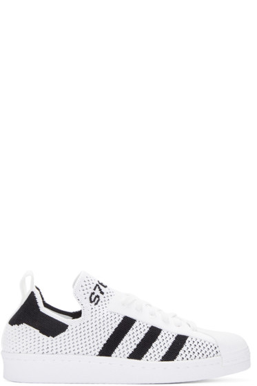 adidas Originals - White Superstar 80s Primeknit Sneakers