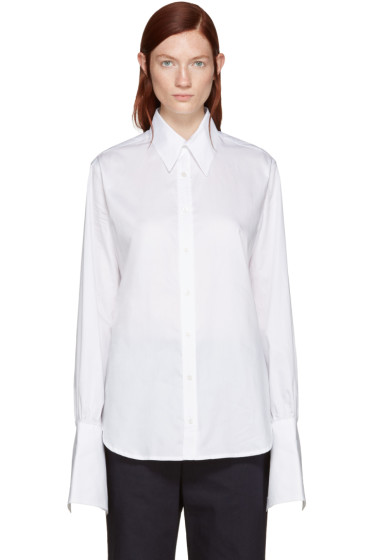 Wales Bonner - White Florence Double Cuff Shirt