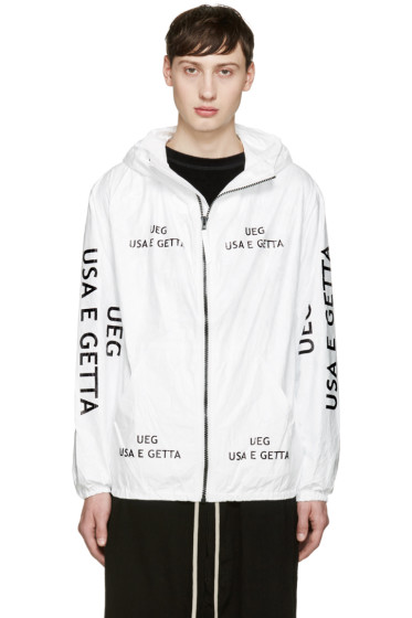 UEG - White 'Usa E Getta' Jacket