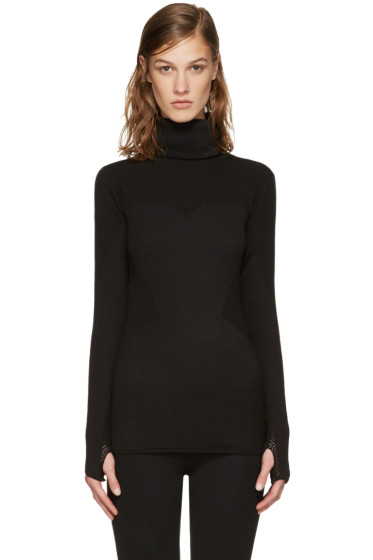 Y-3 SPORT - Black Fine Knit Turtleneck