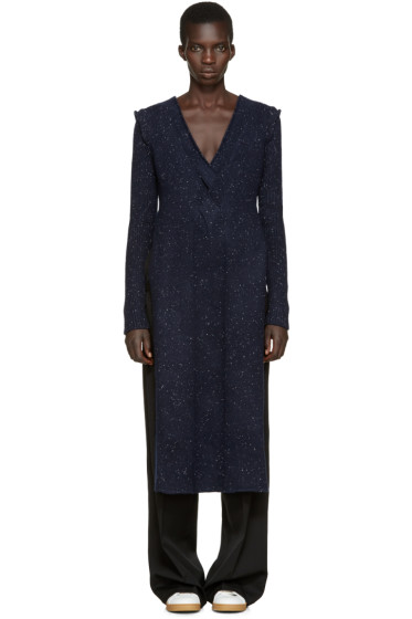 Ports 1961 - Navy V-Neck Slit Dress